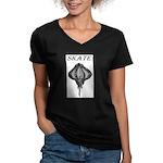 Skate Women's V-Neck Dark T-Shirt