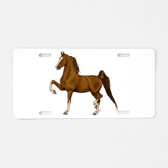 Unique American saddlebred Aluminum License Plate