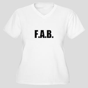 F.A.B. Women's Plus Size V-Neck T-Shirt