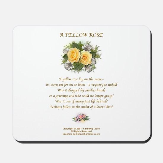 A Yellow Rose Mousepad