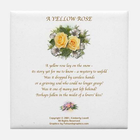 A Yellow Rose Tile Coaster