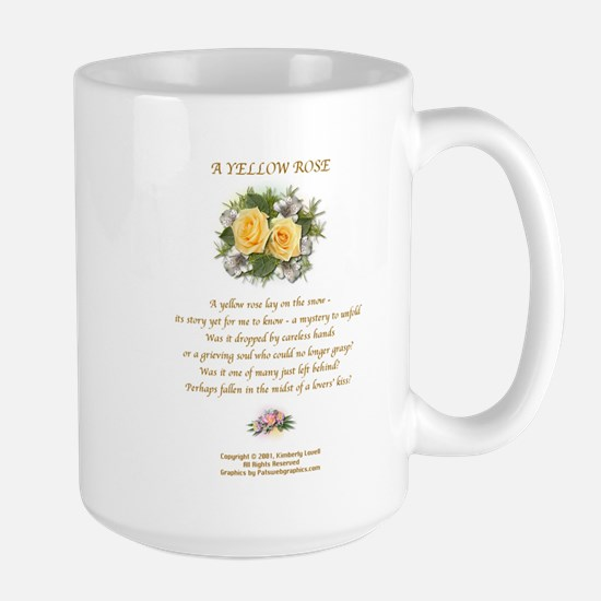 A Yellow Rose2 Large Mug Center