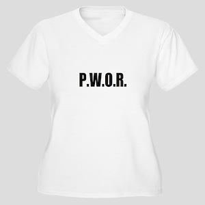 P.W.O.R. Women's Plus Size V-Neck T-Shirt
