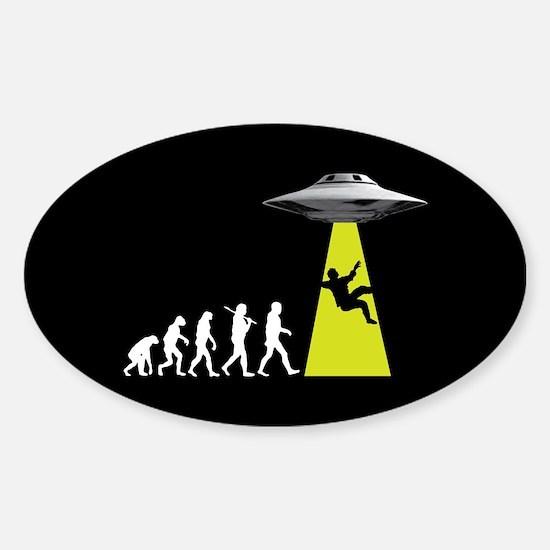 UFOvolution Sticker (Oval)