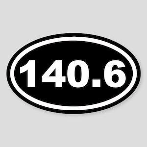 140.6 Ironman Black Euro Oval Sticker