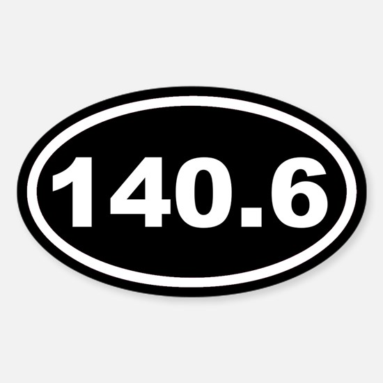 140.6 Ironman Black Euro Oval Decal