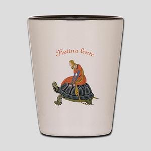 Festina Lente Shot Glass