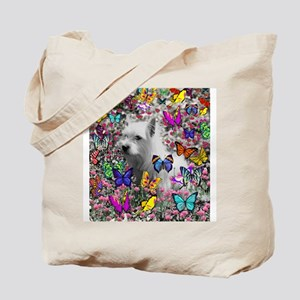 Violet in Butterflies Tote Bag