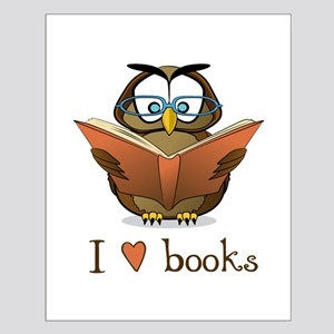 Book owl 3 Small Poster