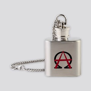 Christain Anarchy Flask Necklace