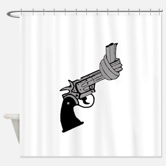 Knotted Gun Shower Curtain