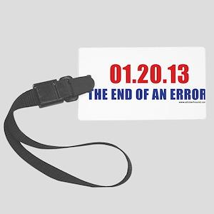 012013_endofanerror Large Luggage Tag
