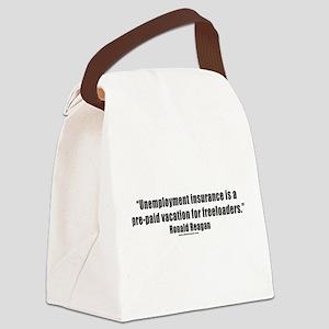 unemploymentinsurance_white Canvas Lunch Bag