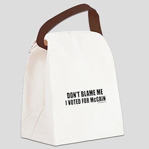 dontblamemcain_white Canvas Lunch Bag