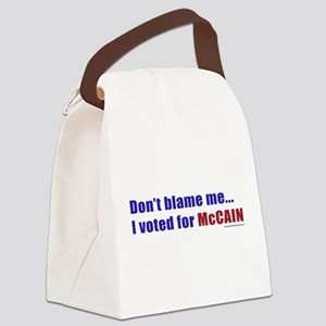 dontblameme_mccain_red Canvas Lunch Bag