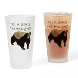 Honey badger Drinking Glass
