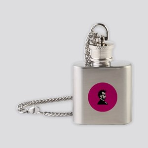 Abraham Lincoln Rocks! Flask Necklace