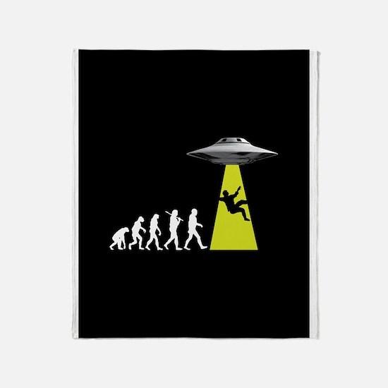 UFOvolution Throw Blanket