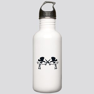 Pirates with crossed swords Stainless Water Bottle