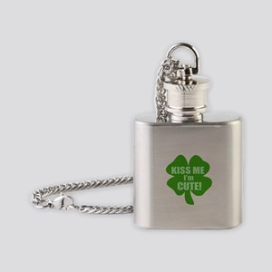 Kiss Me I'm Cute Flask Necklace