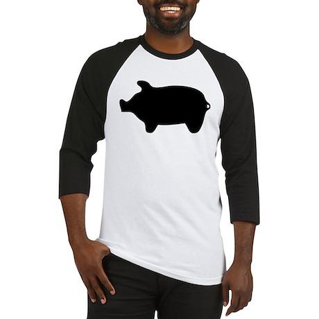 Pig Silhouette Baseball Jersey