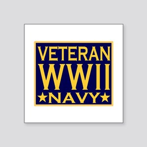 WORLD WAR II VETERAN Rectangle Sticker