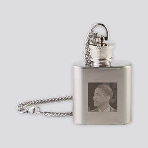 Obama Head Flask Necklace