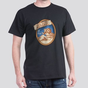 Lake Tahoe Blue Bighorn Badge Dark T-Shirt