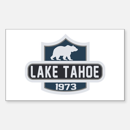 Lake Tahoe Nature Badge Sticker (Rectangle)