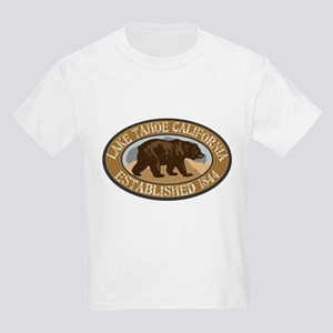 Lake Tahoe Brown Bear Badge Kids Light T-Shirt