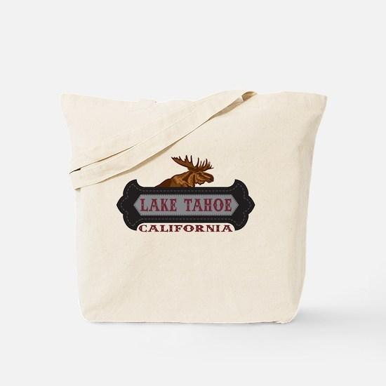 Lake Tahoe Fleur de Moose Tote Bag