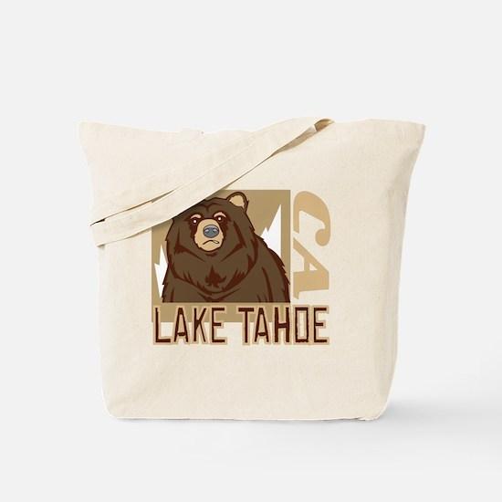 Lake Tahoe Grumpy Grizzly Tote Bag