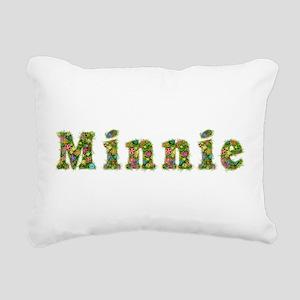 Minnie Floral Rectangular Canvas Pillow