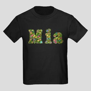 Mia Floral Kids Dark T-Shirt