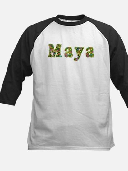 Maya Floral Kids Baseball Jersey