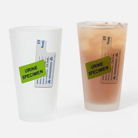 Urine Specimen Label Drinking Glass