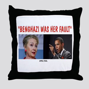 BENGHAZI BLAME Throw Pillow