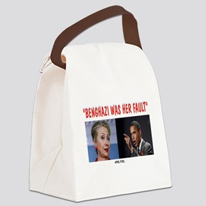 BENGHAZI BLAME Canvas Lunch Bag