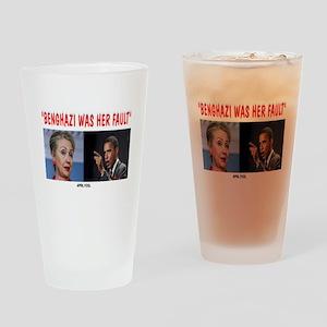 BENGHAZI BLAME Drinking Glass