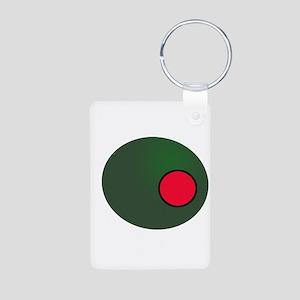 Olive Aluminum Photo Keychain