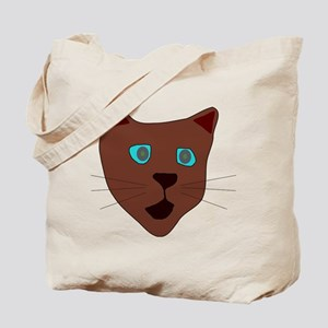 Brown Cat Tote Bag