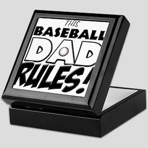 This Baseball Dad Rules Keepsake Box