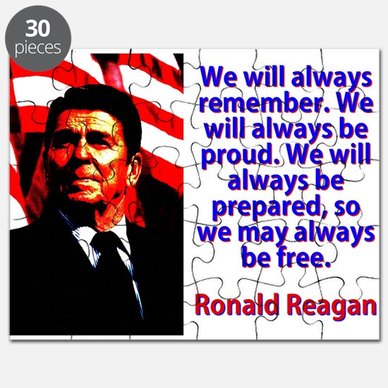 We Will Always Remember - Ronald Reagan Puzzle