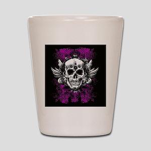 Grunge Skull Shot Glass