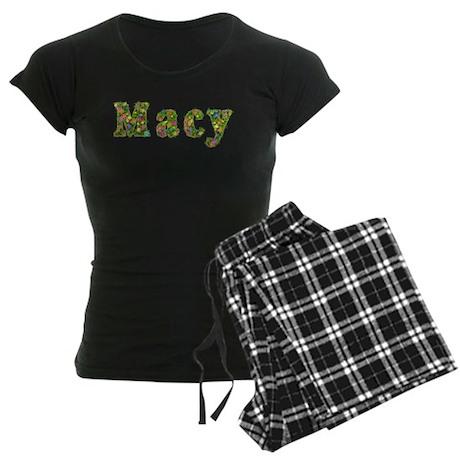 Macy Floral Women's Dark Pajamas
