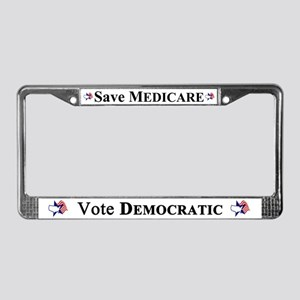 Save Medicare Democratic License Plate Frame