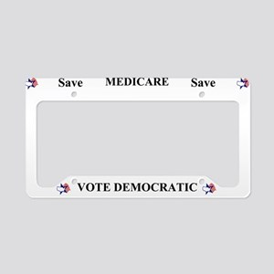 Save Medicare Democratic License Plate Holder