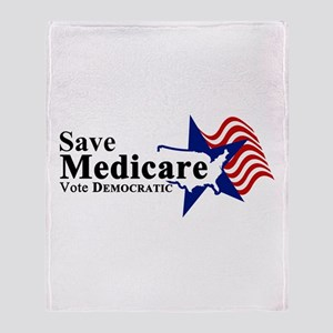 Save Medicare Democratic Throw Blanket