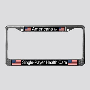 Americans Single Payer Health License Plate Frame