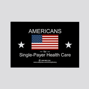 Americans Single Payer Health Rectangle Magnet